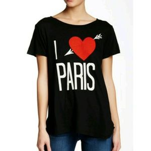 Wildfox Tops - WILDFOX I LOVE PARIS TER