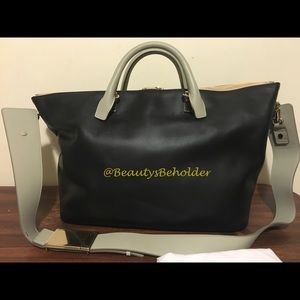 Chloe Handbags - CHLOE Baylee Black & Grey XL Shoulder Bag