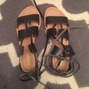 Old navy lace up sandals 6