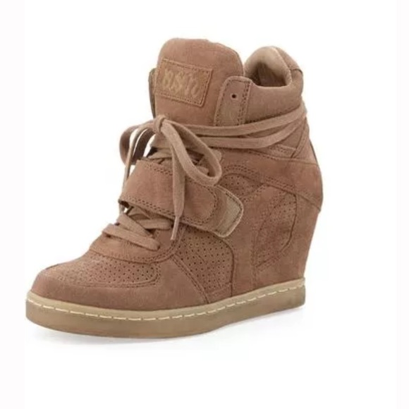 5885ff7e3cd Ash Shoes - ASH COOL SUEDE WEDGE SNEAKER IN NUT