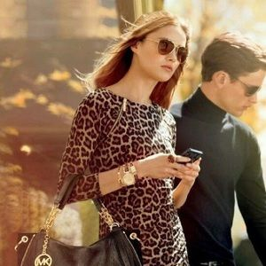 Michael kors leopard print dress