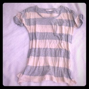 Madewell striped tee with pocket