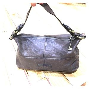 Fossil Handbags - Fossil long live vintage brown leather hobo purse