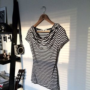 Max Studio Tops - Striped Scoop Top