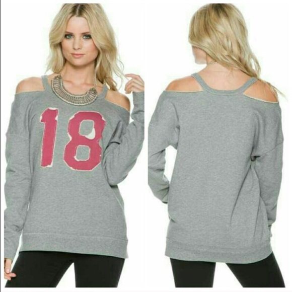 ab1c80155dfb0c Free People Tops - Free People Cold Shoulder Pullover Sweatshirt (s)