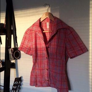 Vintage Tops - Vintage Plaid Button Down Shirt
