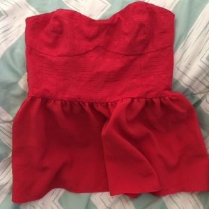 H&M Red tube top - size 4 -