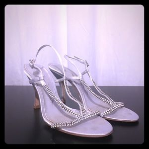 Nina Shoes - Rhinestone Strappy Dress Shoes