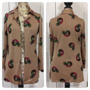 Vintage Diane Von Furstenburg boho top/jacket