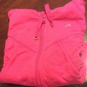 Adidas neon pink zip-up hoodie