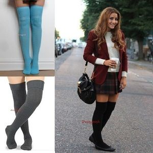 Knit Over The Knee Socks Thigh High Cuff Boot OTK