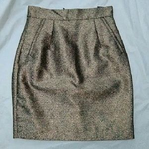 H&M Dresses & Skirts - H&M Bronze Metallic Pencil Skirt nwt