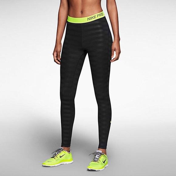 35440f6b8ffb7 Nike Pants | Sale 50 Pro Hyperwarm Striped Leggings | Poshmark
