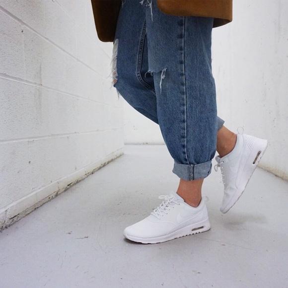 e7ab16bc Nike Shoes | Sale Triple White Air Max Theas | Poshmark