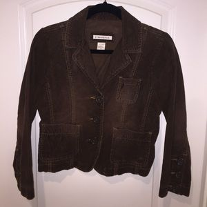 Brown corduroy Abercrombie and fitch blazer