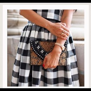 T&J Designs Handbags - Hand Beaded Black Clutch