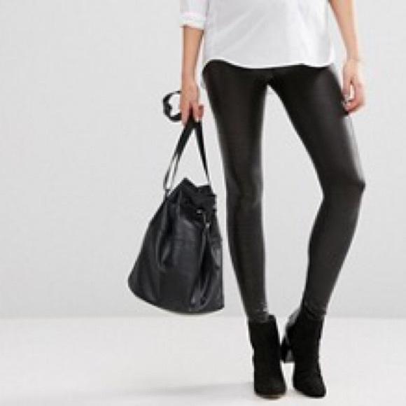 8db33617c7301 ASOS Maternity Pants | Maternity Faux Leather Look Legging | Poshmark