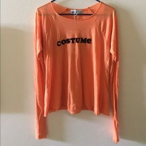 "Wildfox Tops - NWT WILDFOX ""COSTUME"" long sleeve tee / shirt"