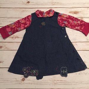 Catimini Other - 🌹HP Catimini Girls Butterfly Denim Dress 18 Month