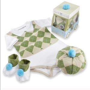 Baby Aspen Other - NWT Baby Aspen 3-piece golf layette set