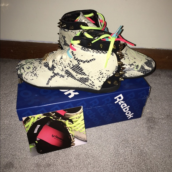 317d92795f1 Reebok x Melody Ehsani Spiked Python Sneakers