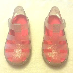 "Igor Other - Igor ""star"" silver glitter jelly sandals"