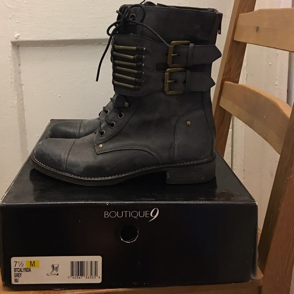 5c1ad0bcfbe NIB BOUTIQUE 9 BULLET BOOT FREE PEOPLE 7.5 GRAY