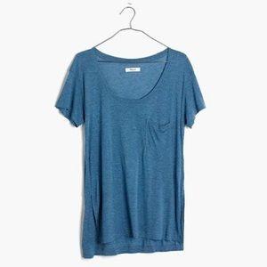 Madewell Anthem Scoop-neck Tee NWT Medium Blue