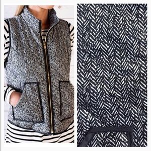 Jackets & Coats - Printed herringbone vest