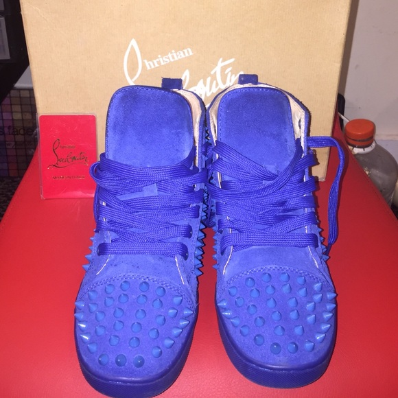 sneakers Shoes | Red Bottom Blue Spike