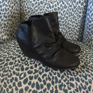 Blowfish wedge booties