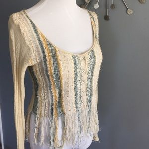 Free People hard to find destroyed cardigan