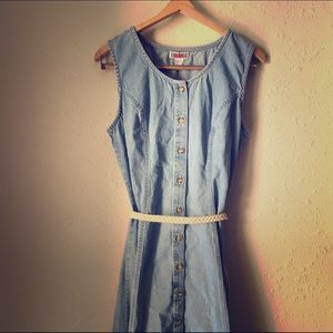 FADS Dresses & Skirts - 🌷VINTAGE PLUS SIZE🌷 Denim Jean Button Down Maxi