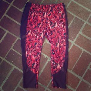 Avia Pants - Like New Avia Printed Yoga Pants w/ Peekaboo Sheer