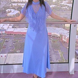 Authentic Original Vintage Style Dresses & Skirts - blue cape dress