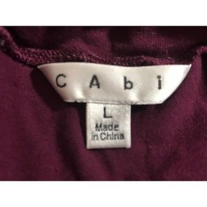 CAbi Tops - Cabi blouse ruched on one side semi cowl neck