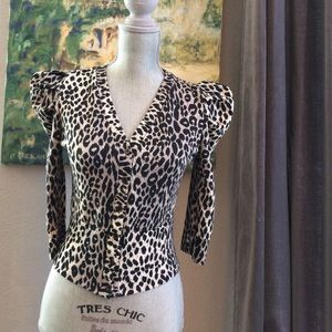 Sweaters - Leopard print cardigan by Swool