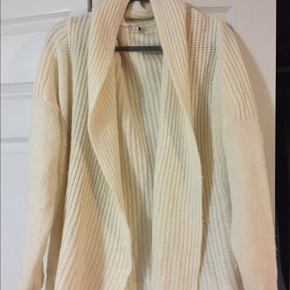 71% off GAP Sweaters - Chunky white soft cardigan sweater from ...