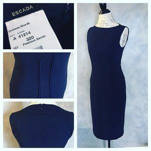 Escada Dresses & Skirts - Escada navy blue dress