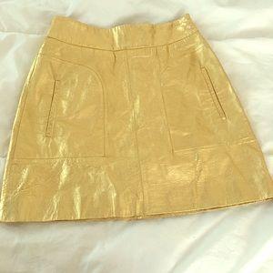 Zara gold skirt , XS