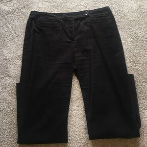 Black corduroy pants with double buttons