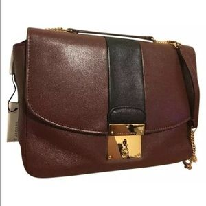 Marc Jacobs Handbags - Marc Jacobs Mini Polly Gold Chain Chestnut & Black