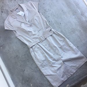 H&M Dresses & Skirts - H&M Grey Belted Button Shirt Dress