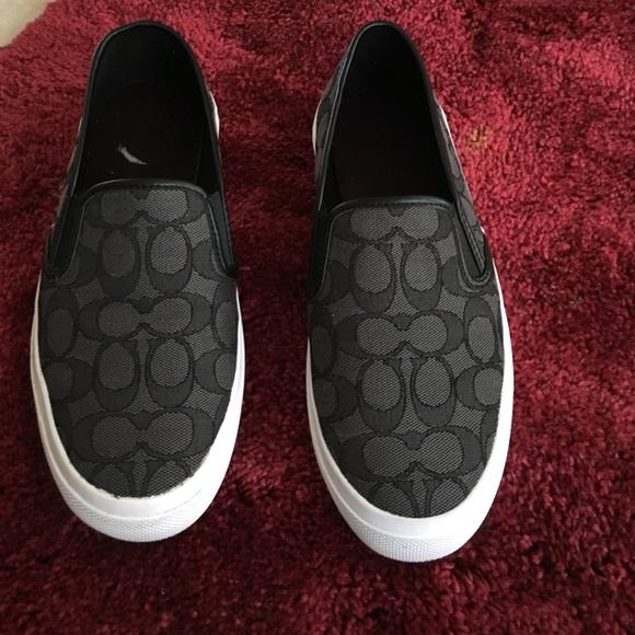 3e36a91d2e Coach Shoes | Chrissy Black Signature Outline Canvas | Poshmark