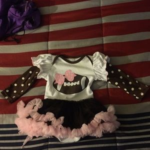 Other - Baby girl long sleeve football onesie with tutu