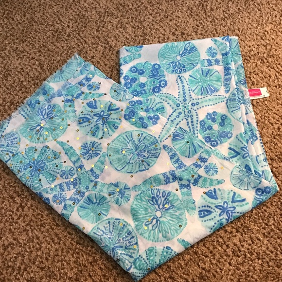 eef00a74ce4d04 Lilly Pulitzer for Target Accessories - Lilly Pulitzer Sea Urchin for You  blue green scarf