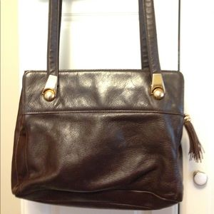 aurielle Handbags - Aurielle Brown Leather Purse Handbag