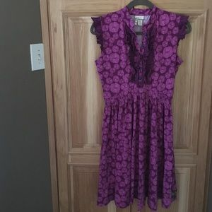 Matilda Jane purple dress EUC