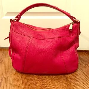 Cole Haan Handbag- Red Pebbled Leather Hobo