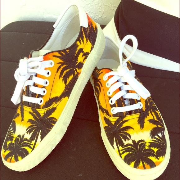 Saint Laurent Sunset Palm Tree Sneakers